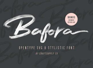 Bafora - SVG Font + Bonus