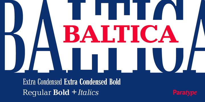 Baltica Font Family8