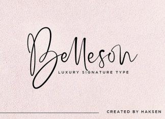 Belleson Luxury Script Type