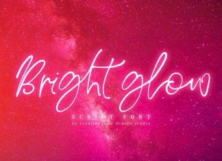 Bright Glow Script Font