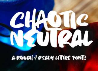 Chaotic Neutral Brush Font