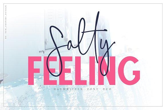 CM - Salty Feeling, font