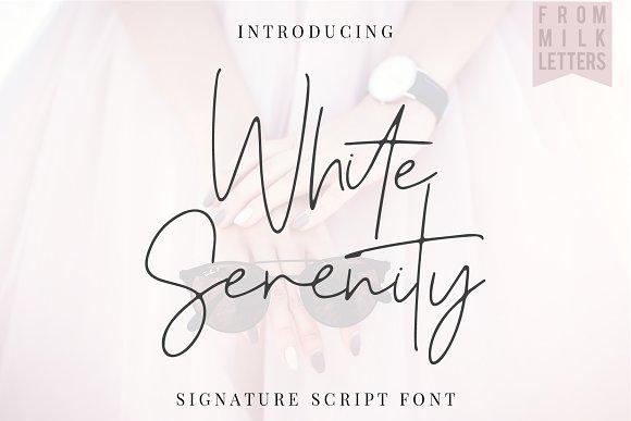 CreativeMarket White Serenity Signature Font