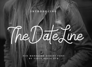 Date Line Font
