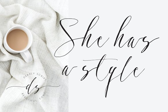 Dearly Script, New Calligraphy Font