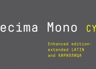 Decima Mono Cyrillic Font Family
