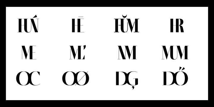 Fino Stencil Font