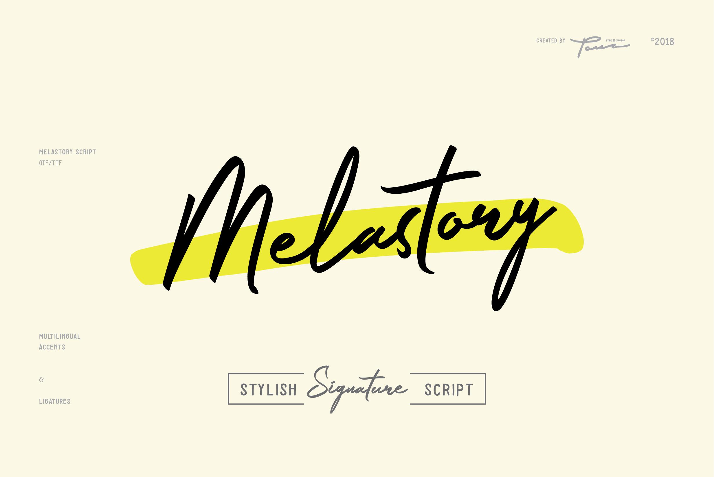 Fontbundles - Melastory Script