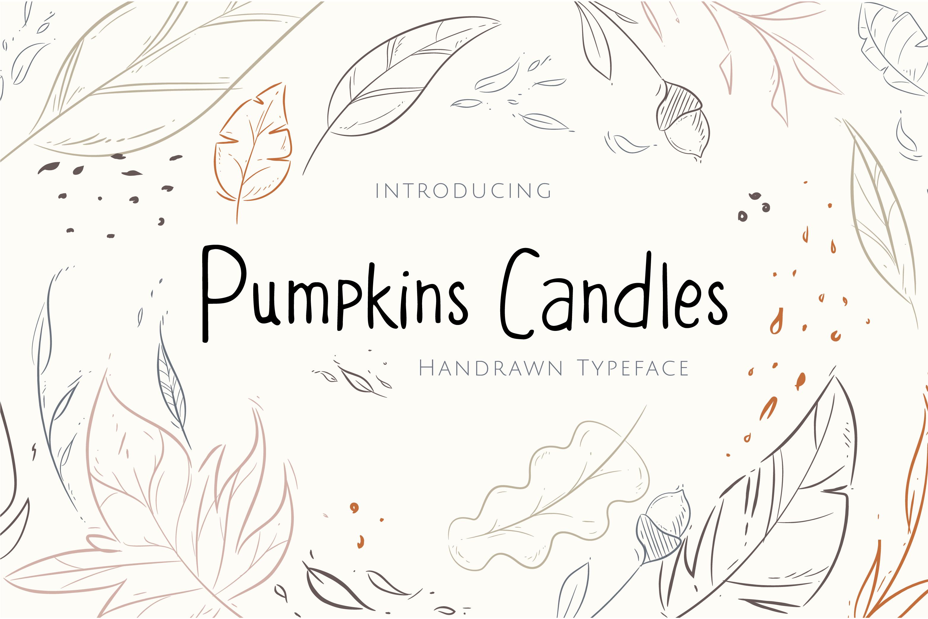 Fontbundles - Pumpkins Candles