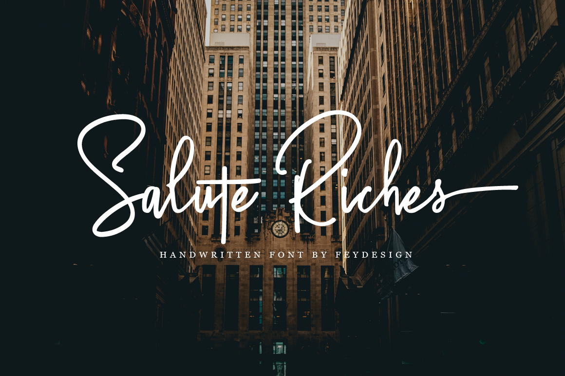 Fontbundles - Salute Riches - Handwritten Font - iFonts xyz
