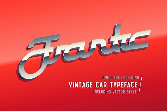 Frantic font & style