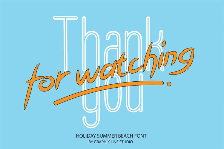 Holiday Summer Beach Font