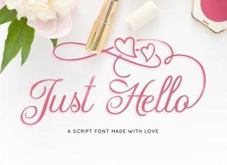 Just Hello Script Font