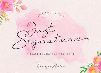 Just Signature Script Font