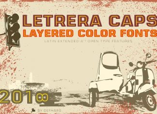 Letrera Caps - Layered & Color Fonts