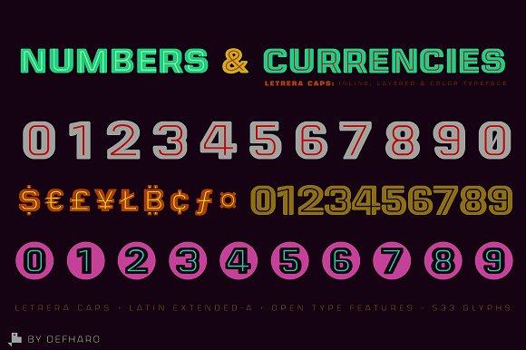 Letrera Caps - Layered & Color Fonts