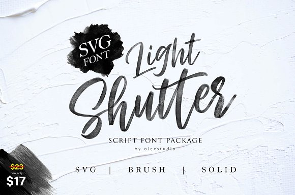 Light Shutter Font Family