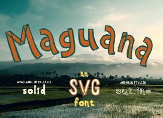 Maguana ~ Hand-drawn SVG Font