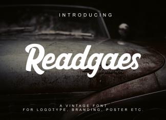 Readgaes Script Font