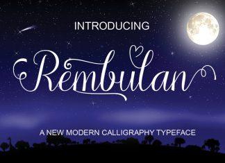 Rembulan Script Font