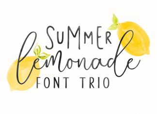 Summer Lemonade Font