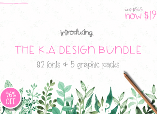 The hungryjpeg - The K.A. Design Bundle