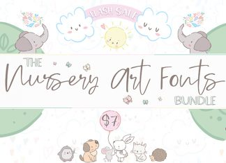 The hungryjpeg - The Nursery Art Fonts Bundle