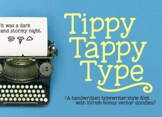 Tippy Tappy Type: a typewriter font