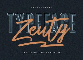 Zeuty Typeface Collection Font