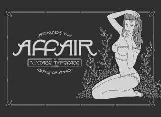Affair Typeface & Graphics Font