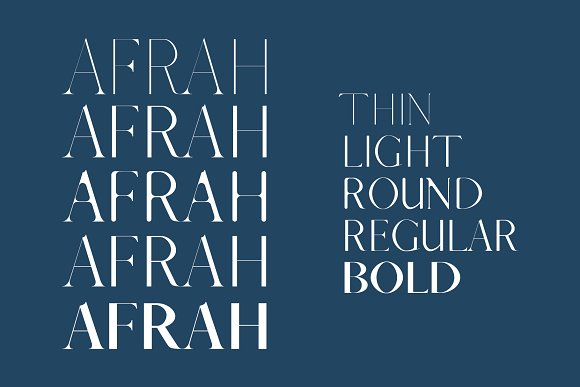 Afrah Serif Font Family