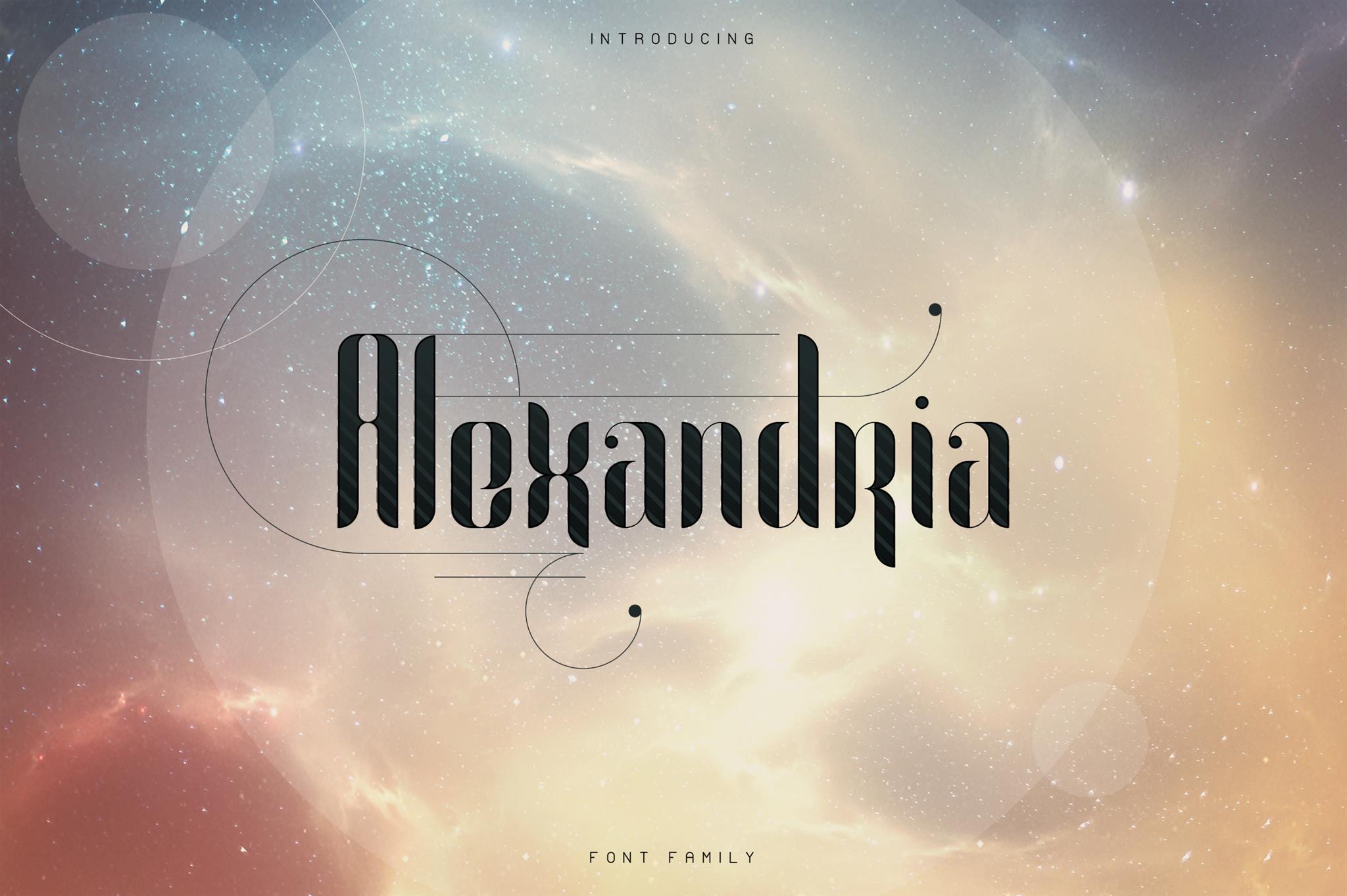 Alexandria Font Family Bonus