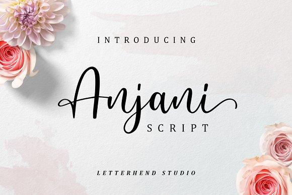 Anjani Script Modern Calligraphy Font