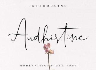 Audhistine  Script Font