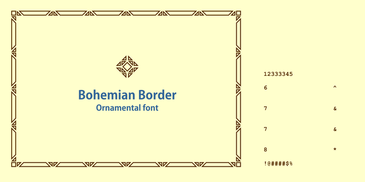 Bohemian Border Font