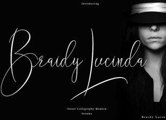 Braidy Lucinda Script Font