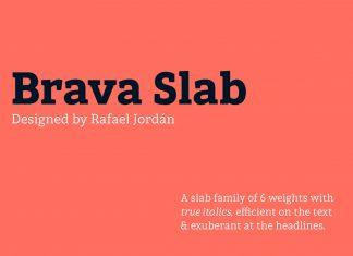 Brava Slab Font Family