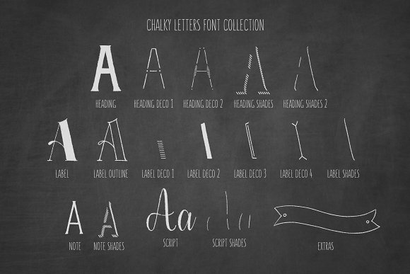 Chalky Letters font collection