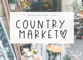 Country Market - A Handwritten Display Font