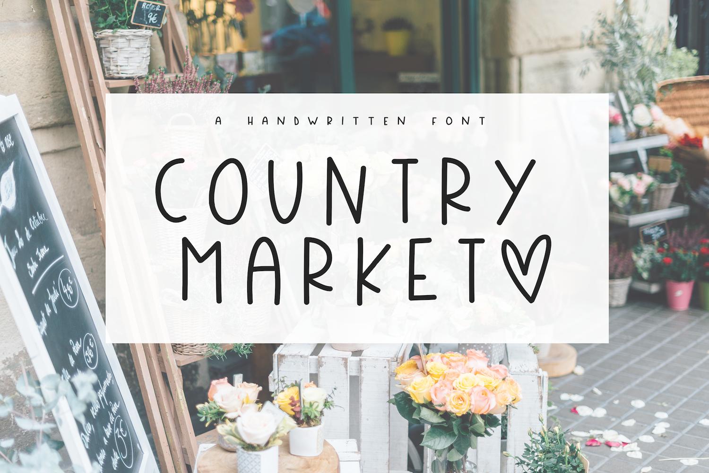 Country Market - A Handwritten Display Font