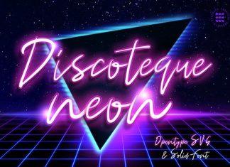 Discoteque Neon Script Font