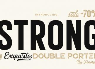 Double Porter Sans Serif Font