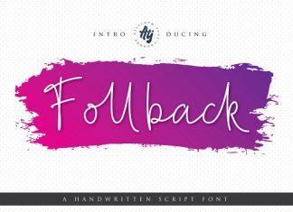 Follback Script Font
