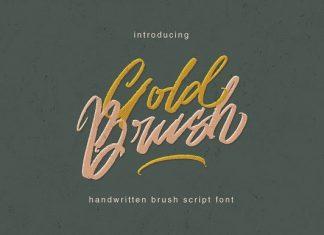 Gold Brush Font