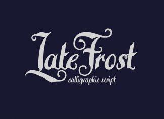 Late Frost Script font
