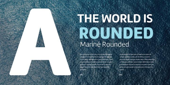Marine Rounded Font