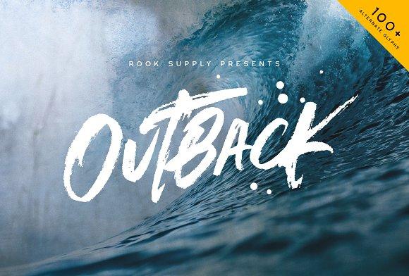 Outback Brush Font