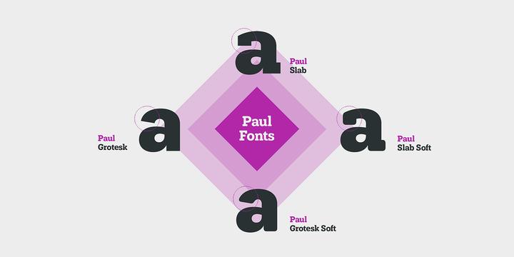 Paul Slab Soft Font Family