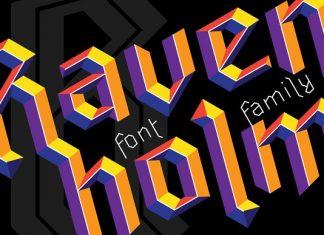 Ravenholm family Font
