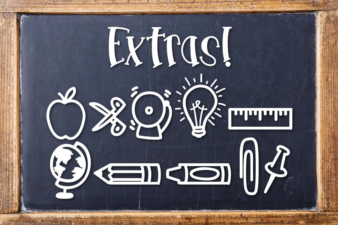 School Haze a Back-to-School Font Script